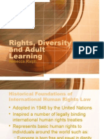 rights diversity and adult learning