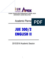 PA JUE 300 - Academic Planner (2015-2016)