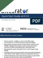 BitCurator Quickstart v0.9.13