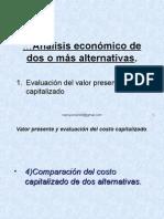 analisis alternativo de una o mas alternativas