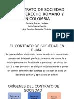 El Contrato de Sociedad en El Derecho Romano