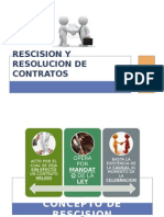 Rescision y Resolucion de Contratos Final