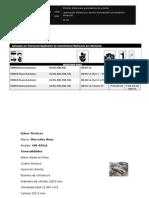 Conjunto de guarnición balatas zapatas chrysler dodge jeep eje trasero 6713