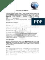 Modelo Contrato Trabajo