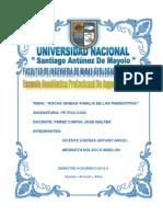 Informe de Familia de Rocas - Familia de Las Peridotitas