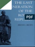 Gruen-The last generation of the Roman Republic