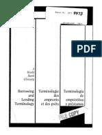 Glosario Del Banco Mundial Sobre Préstamos y Emprestitos