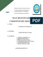 Plan Bicentenario Objetivos Milenio