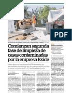 Comienza segunda etapa de limpieza de casas contaminadas por Exide