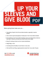 Prepare for Blood Donation Flyer A4
