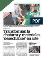 Transforman la 'chatarra' y materiales desechables en arte
