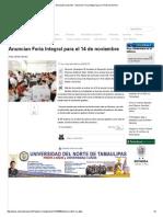 11-03-2015 Anuncian Feria Integral Para El 14 de Noviembre