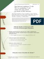 Apresentação dos resultados sobre trabalho científico de imunologia