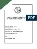 Programa Historia de Rusia 2015