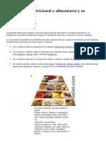 La Pirámide Nutricional o Alimentaria