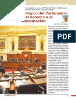 El rol estratégico del Parlamento sobre el derecho a la alimentación