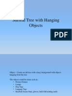 surreal tree with hanging objects