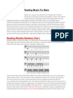 2 Reading Music for Bass