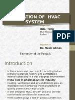 Validation of HVAC
