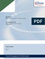 Infineon Ipb60r190p6 Ds v02 02 En
