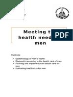 Meeting health needs of men