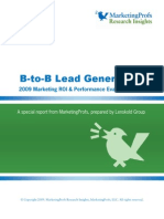 B-to-B Lead Generation 2010