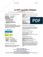 msds for fft laundry cleaner