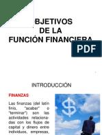 OBJETIVOS DE LA FUNCIÓN FINANCIERA