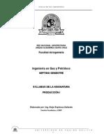 Syllabus Produccion I