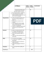 cristina marban - final short progress report memo analytic grading rubric with scenario and justification