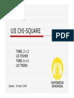 uji chi square + Fisher exact