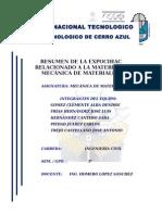 Resumen de La Expocihac Relacionado a La Materia de Mecánica de Materiales