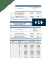 Cálculo de volúmenes acumulados en un depósito