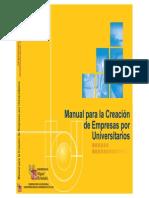 Manual Para La Creacion de Empresas Por Universitarios 2002