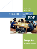 K'EQCHÎ GRAMMAR - An Introduction - Aug 2014