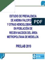Prevalencia de Anemia Falciforme en Medellín
