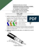 Identifica los elementos del cable trenzado y conector RJ45.