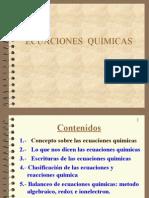 ecuaciones quimicas