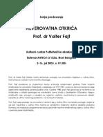 Prof. Dr Valter Fajt - Neverovatna Otkrica