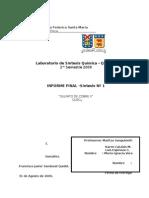 Informe I Laboratorio de Sintesis Quimica COBRE