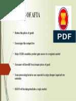 Benefits of Afta