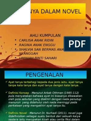 Ayat Tanya Dalam Novel Contoh Kerja Kursus Bahasa Melayu Penggal 3