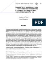 Dimensionamento de inversores para Sistemas FV - Estudo de caso