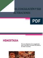 Hemostasia, Coagulación y Sus Alteraciones