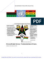 Fundamentalismo Africano Marcus Garvey