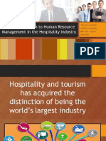 Introduction to HRM in the Hospitality Industry
