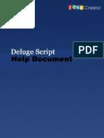 Zoho Creator Deluge Script Help Document