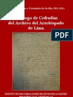 Catalogo Cofradias Archivo Arzobispado Lima