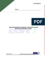 SNI 7656-2012 Tata Cara Pemilihan Campuran Beton Normal, Beton Berat Dan Beton Massa