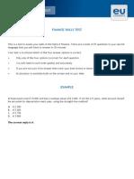 Finance Skillsen